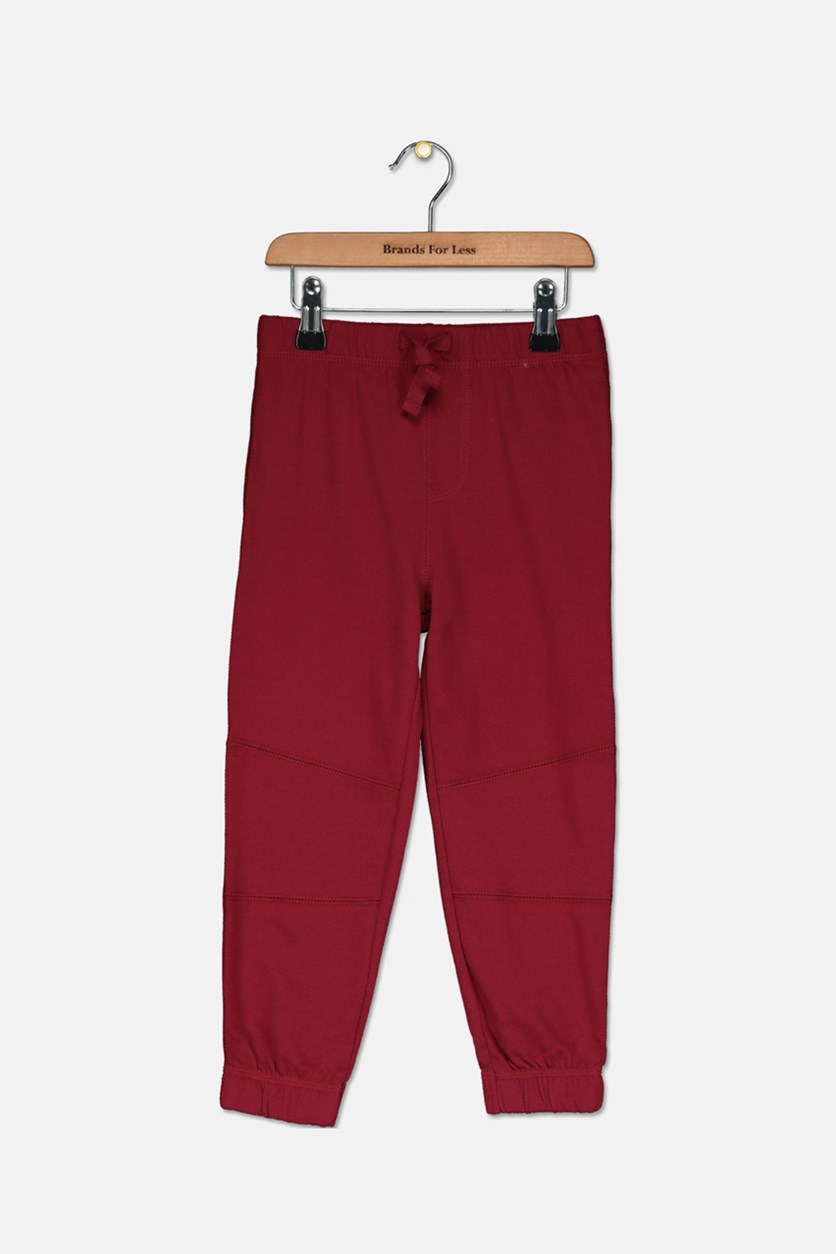 Toddler Boys Pieced Jogger Pants, Claret