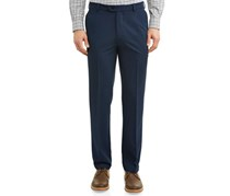 Kirkland Signature Men's Wool Pleated Pants Made Italy, Navy