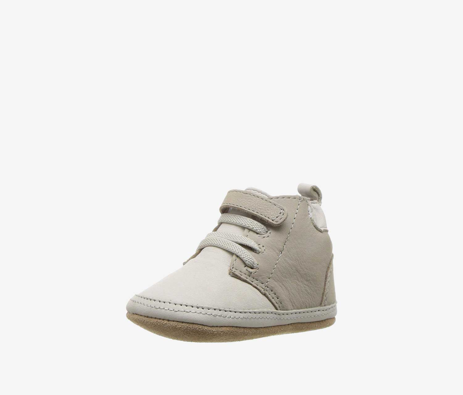 Little Boy's First Kicks Elijah Boots, Cool Grey