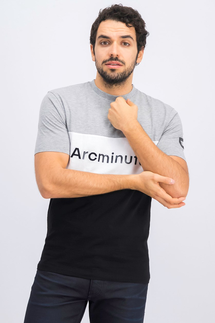 Men's Vining T-Shirt, Grey/Black/White
