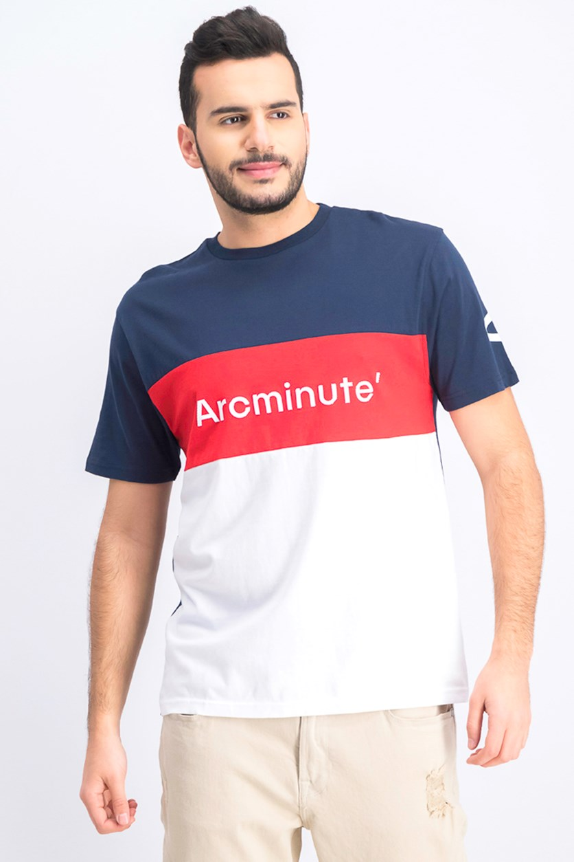 Men's Colorblock T-Shirt, Navy/Red/White