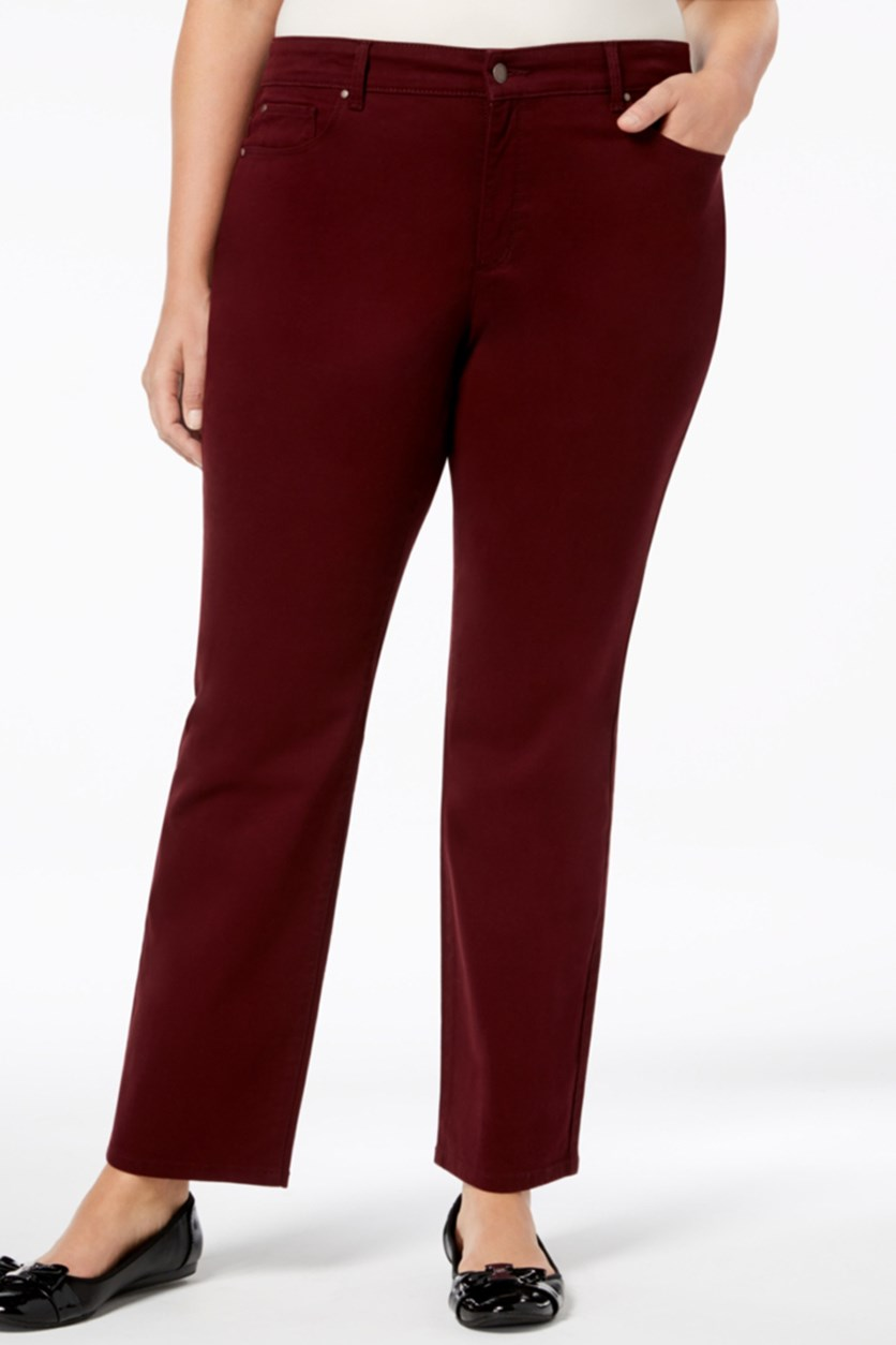 Plus Size Lexington Straight-Leg Pants, Marooned