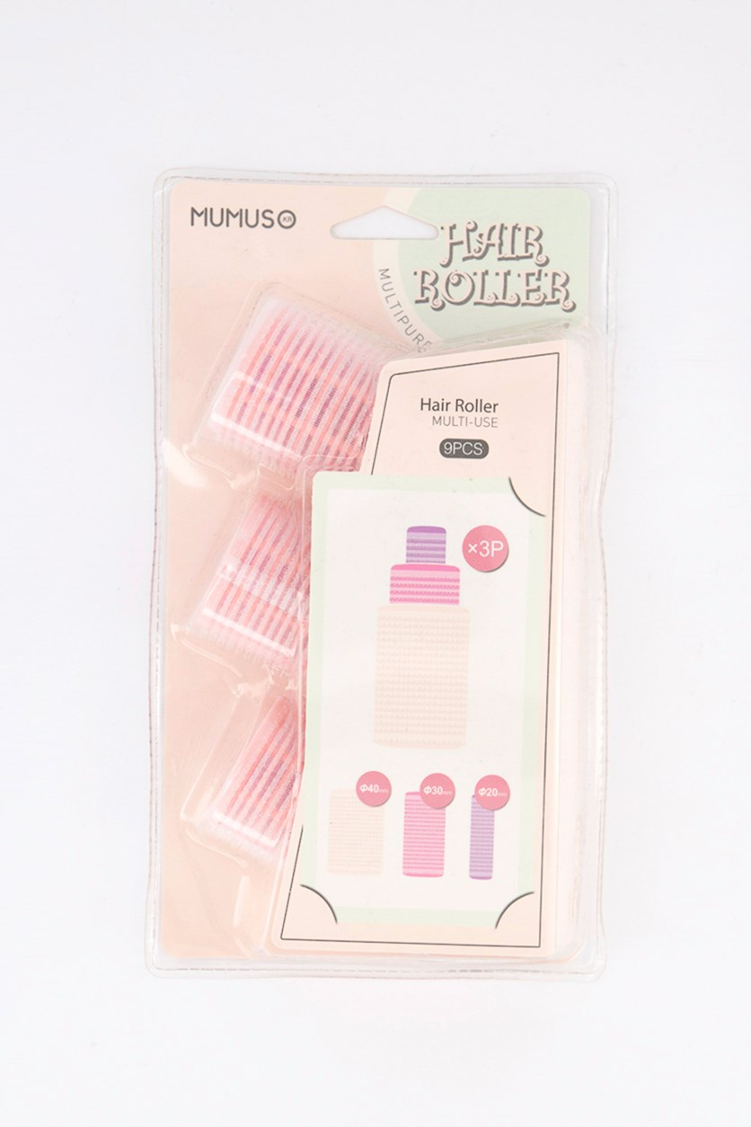 Multi-Use Hair Roller Set of 9, Pink