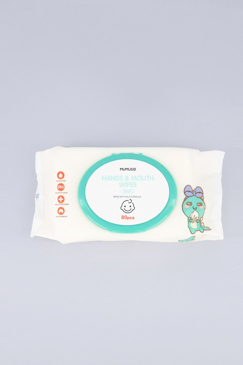 Hand And Mouth Wipes, 80 Pcs.