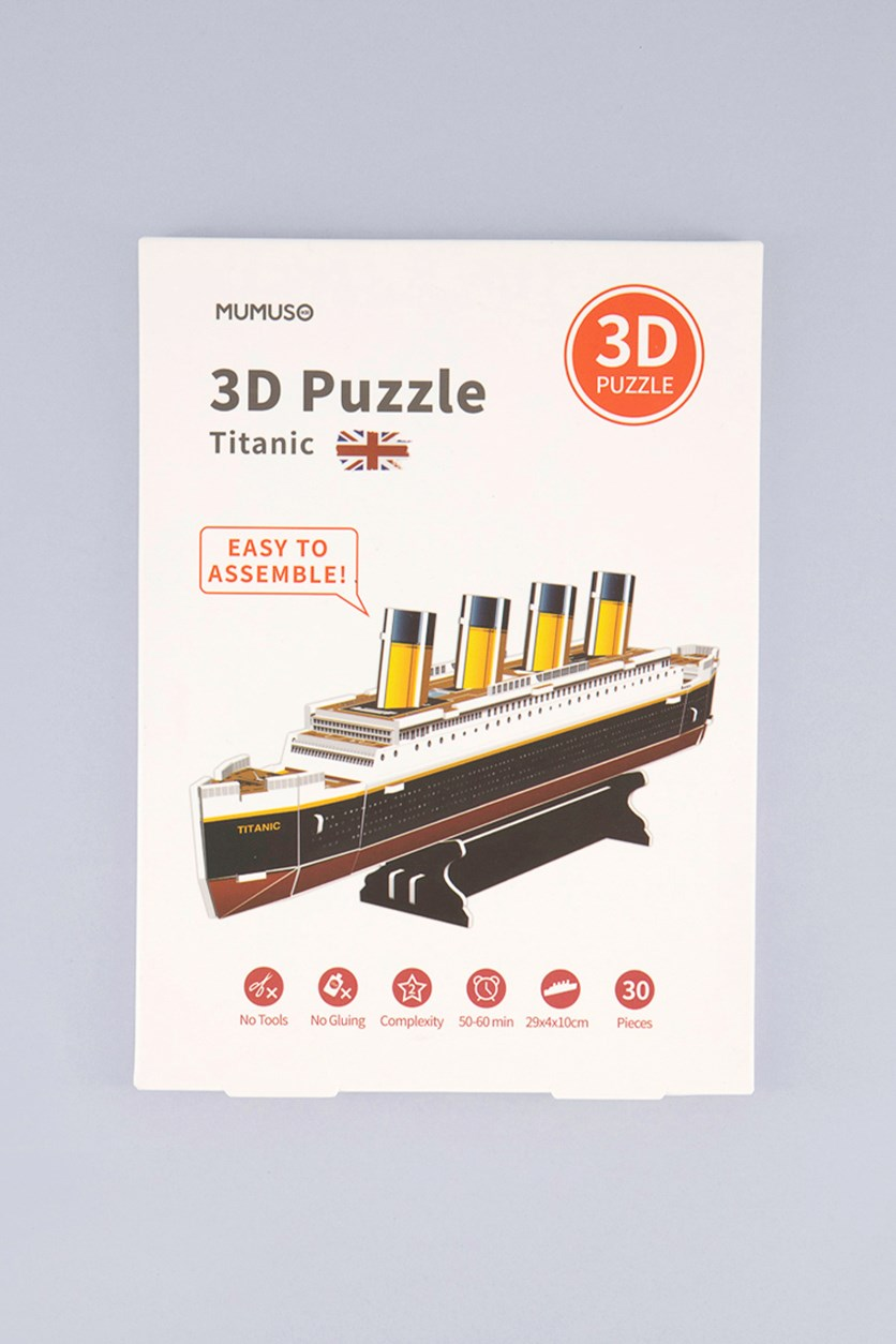 3D Titanic Puzzle, Yellow/Brown Combo