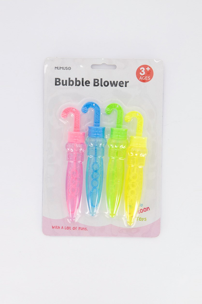 Bubble Blower-Umbrella, Blue/Yellow/Green/Pink