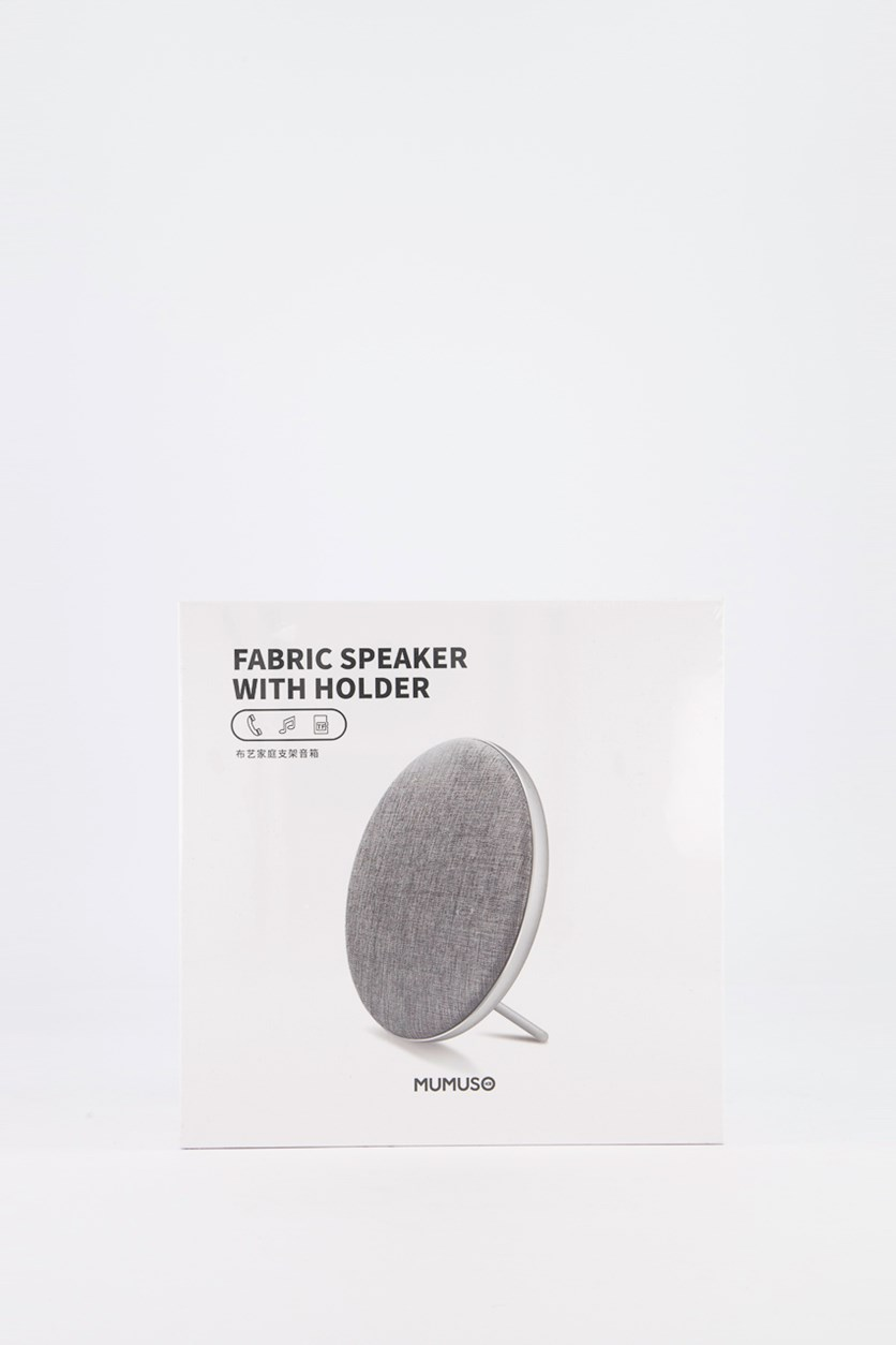 Fabric Speaker With Holder, Gray