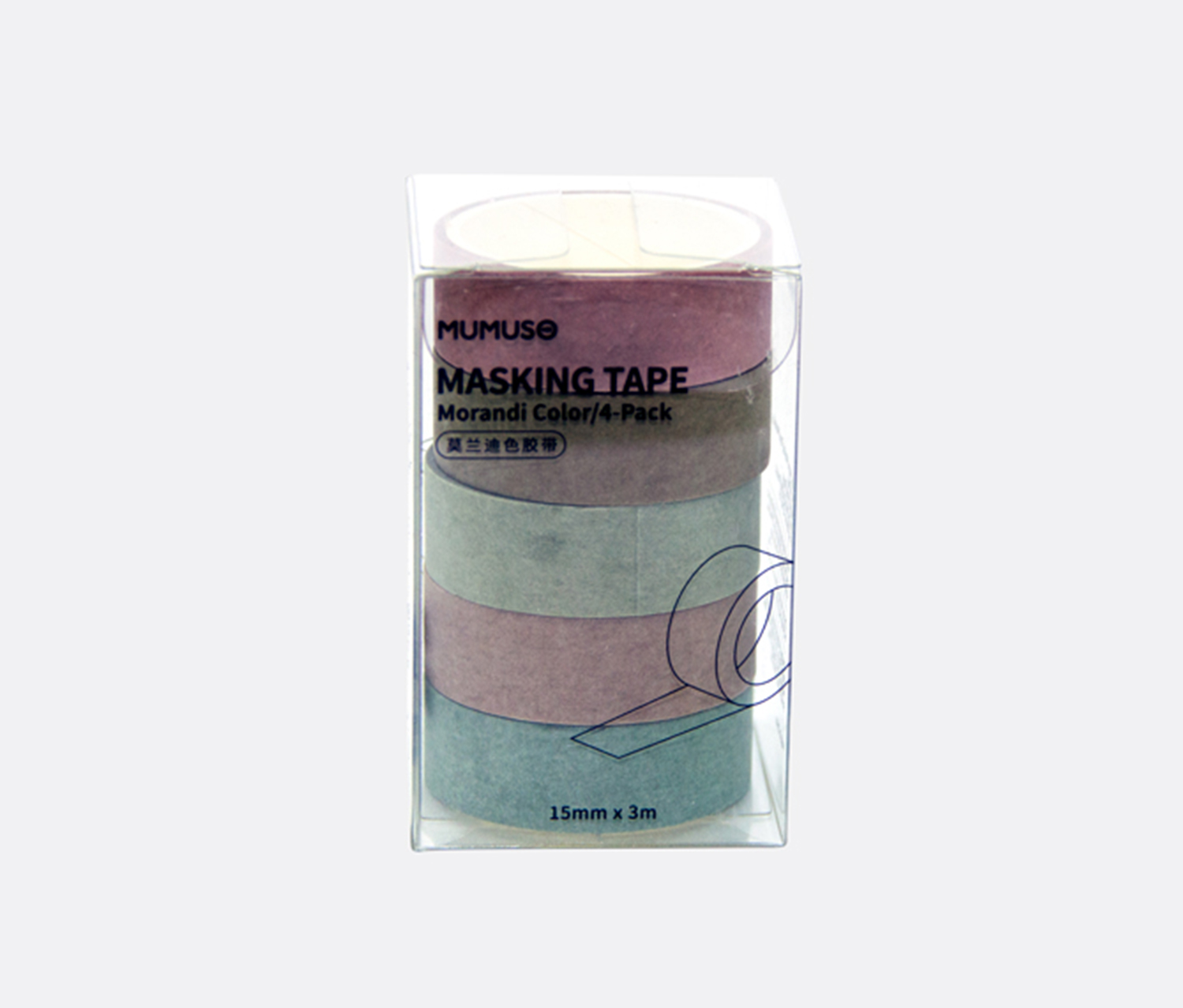 Masking Tape, Brown/Olive/Pink/Green