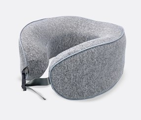 U-Shaped Neck Pillow- Memory, Grey