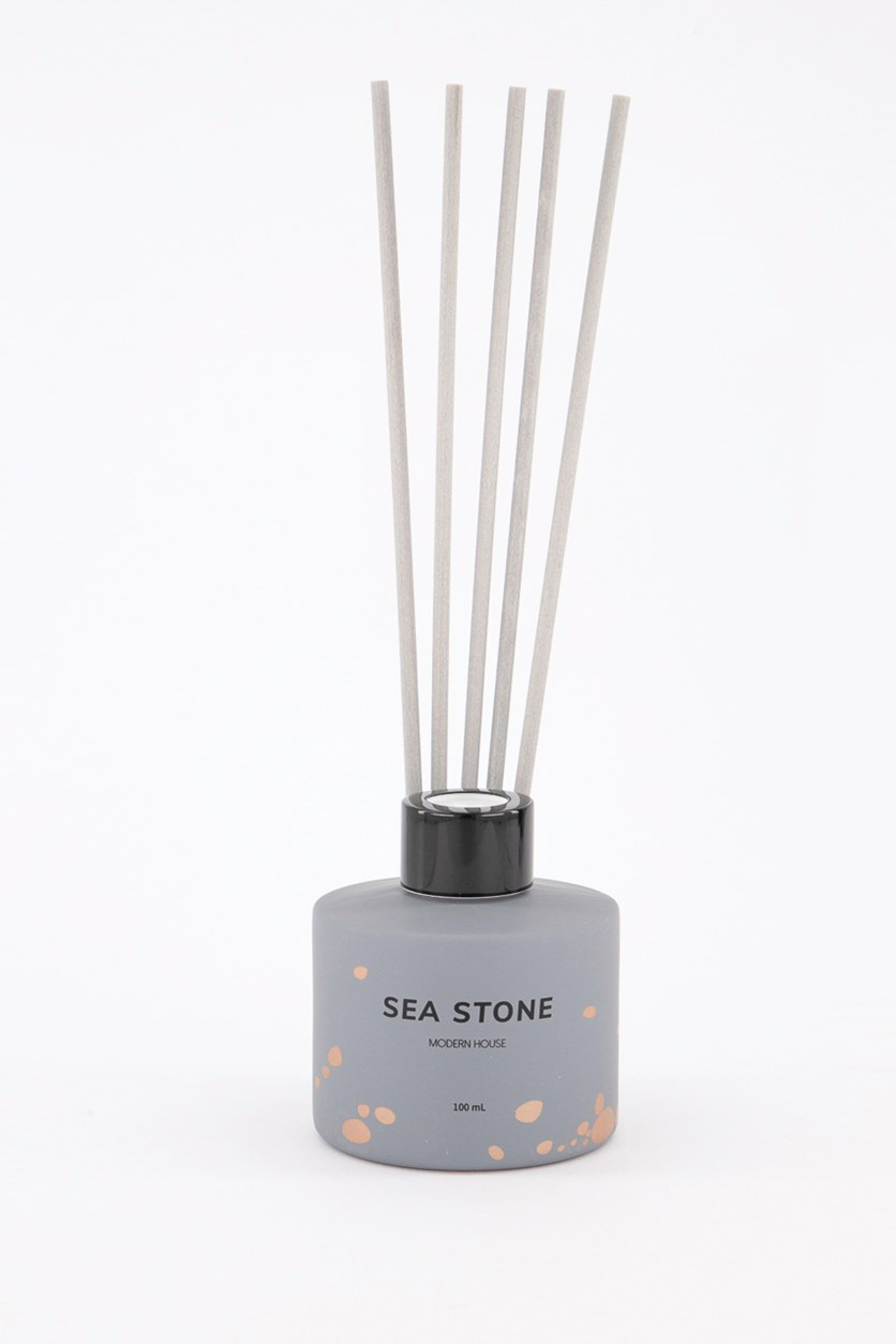Sea Stone Modern House Reed Diffuser, Gray
