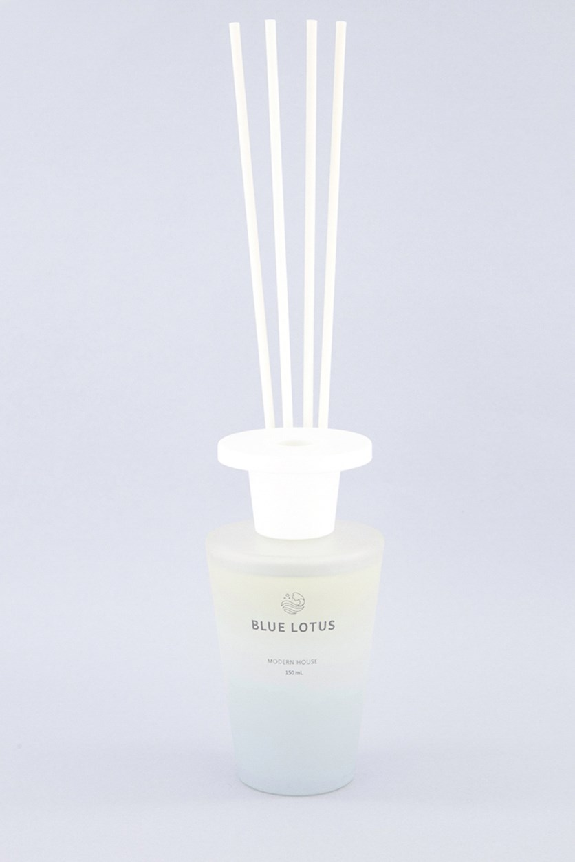 Blue Lotus Modern House Reed Diffuser, Blue