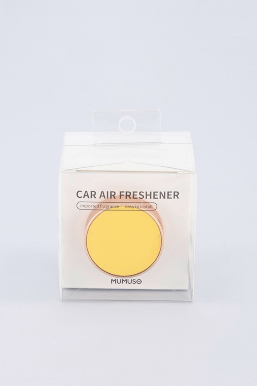 Color Center Car Air Freshner - Cucumber Tea Water Soluble, Yellow