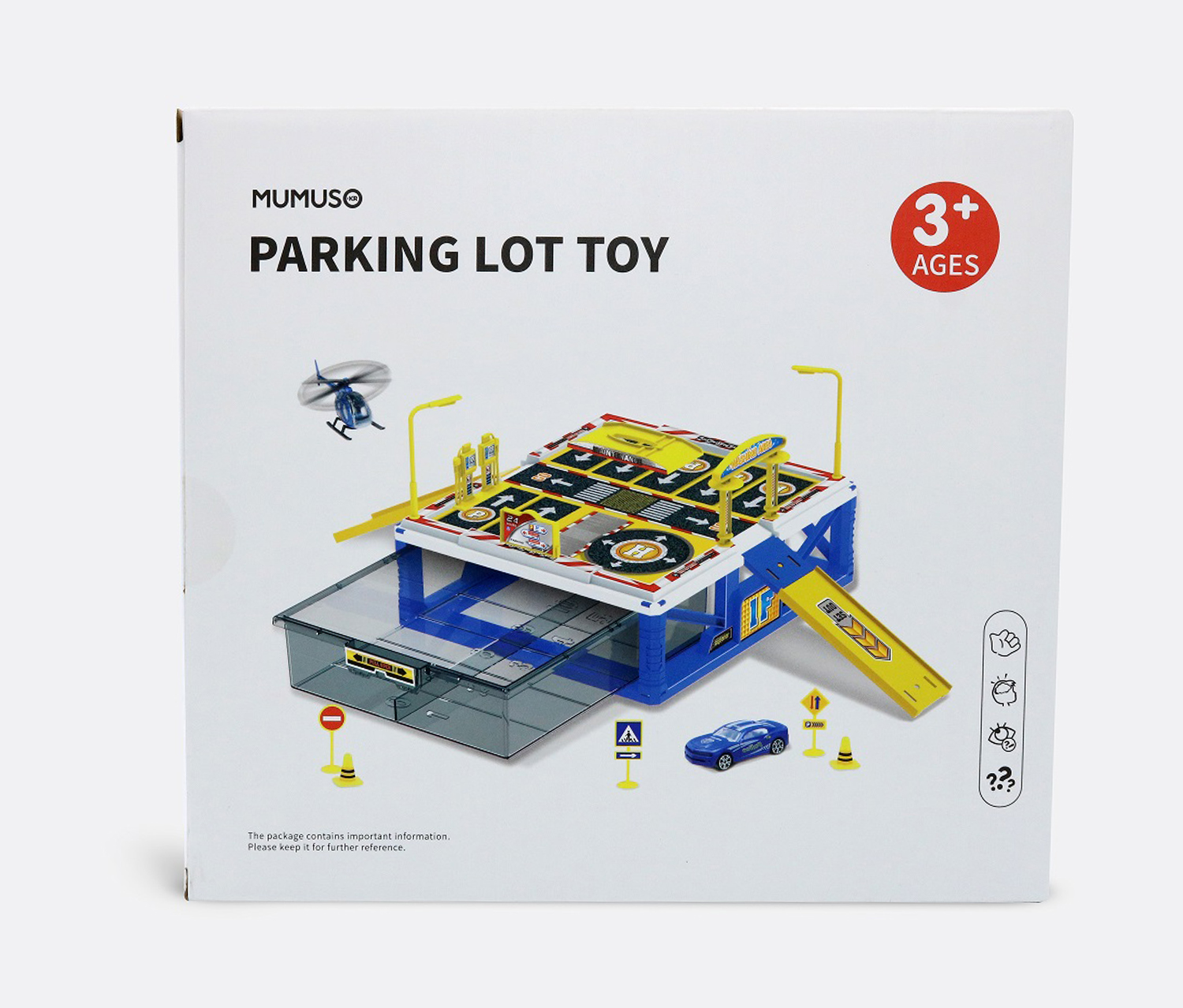 Parking  Lot Toy, Blue