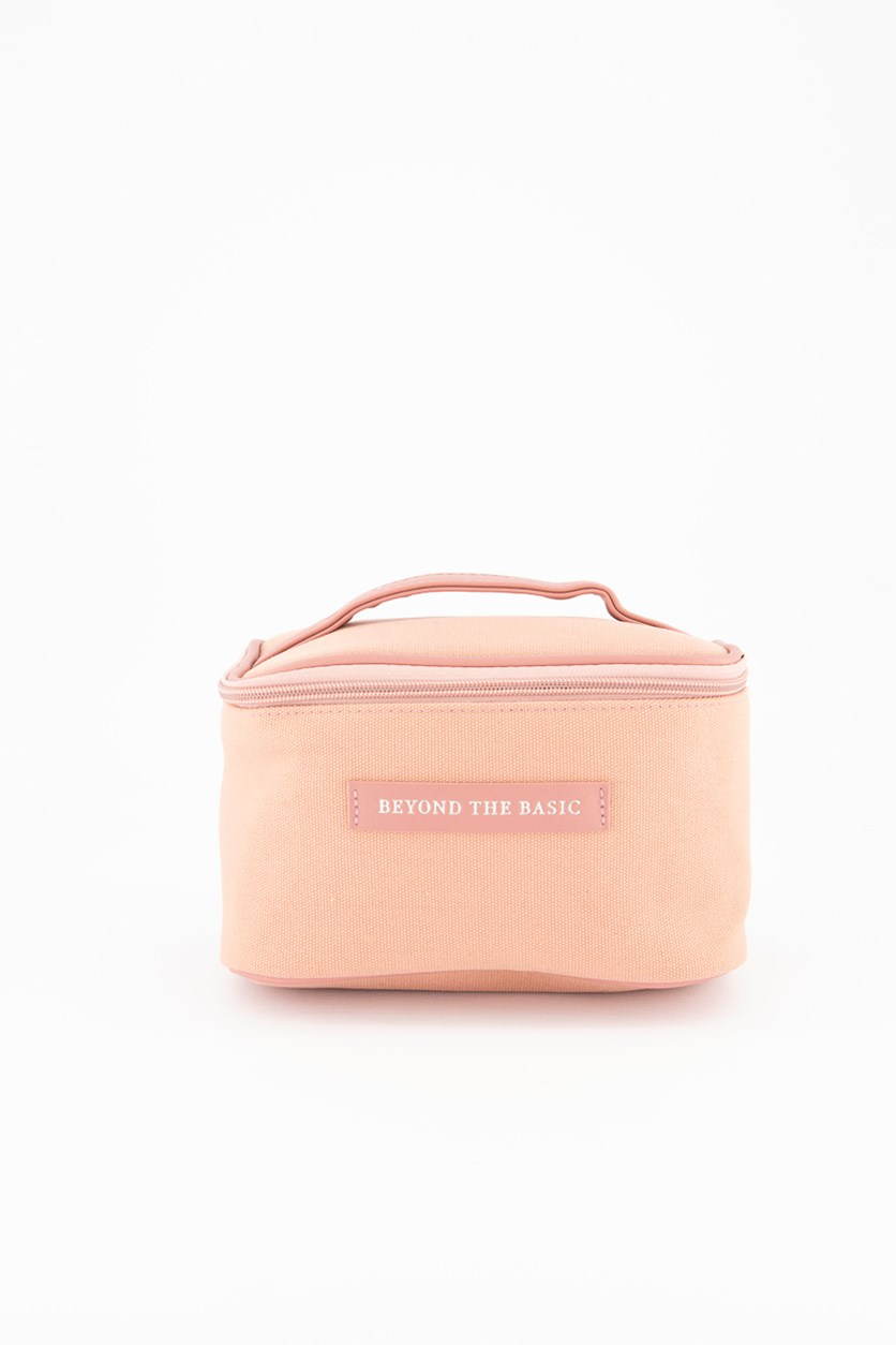 Canvas Cosmetic Case, Pink
