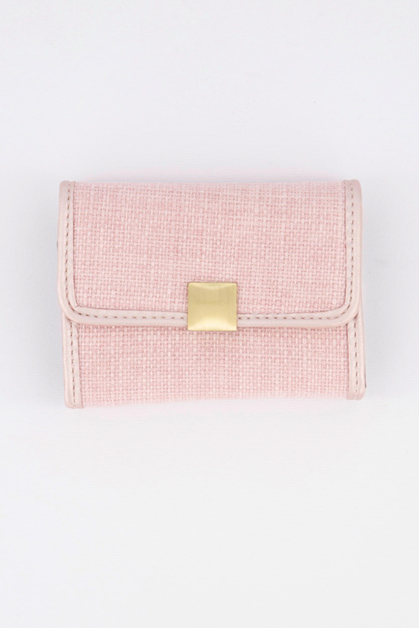 Card Holder With Press Stud, Pink