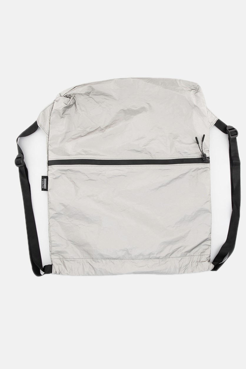 Paper Backpack with Drawstring, Silver