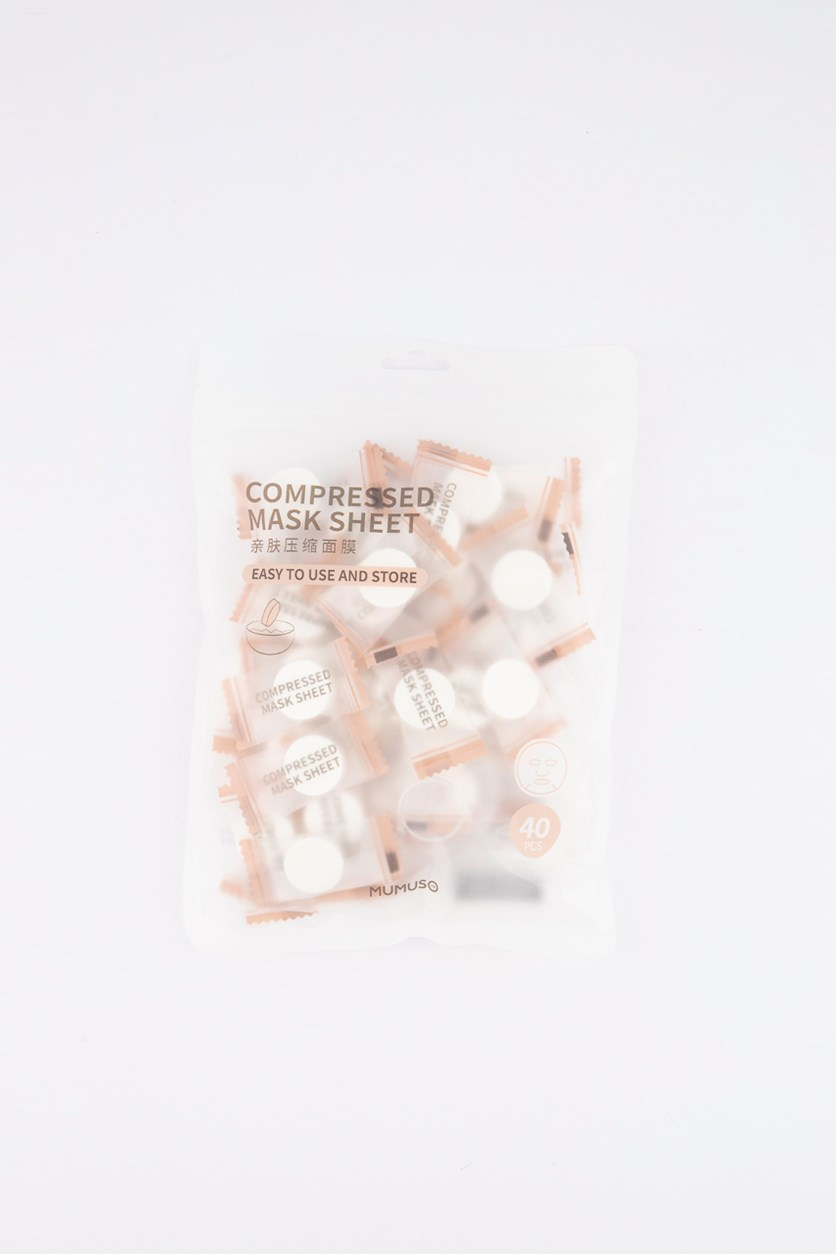 Compressed Mask Sheet, 40 Pcs.