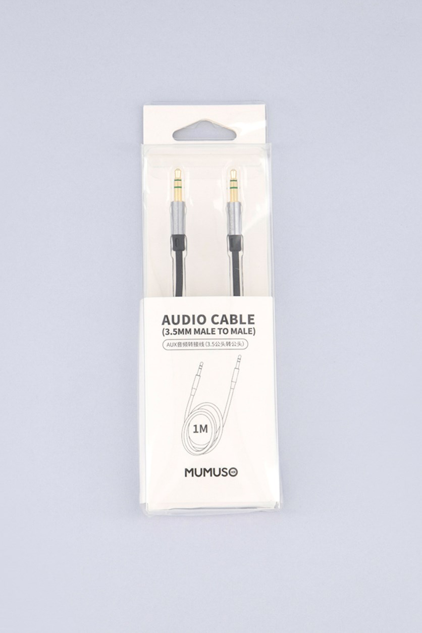 Audio Cable 3.5mm Male To Male, Black