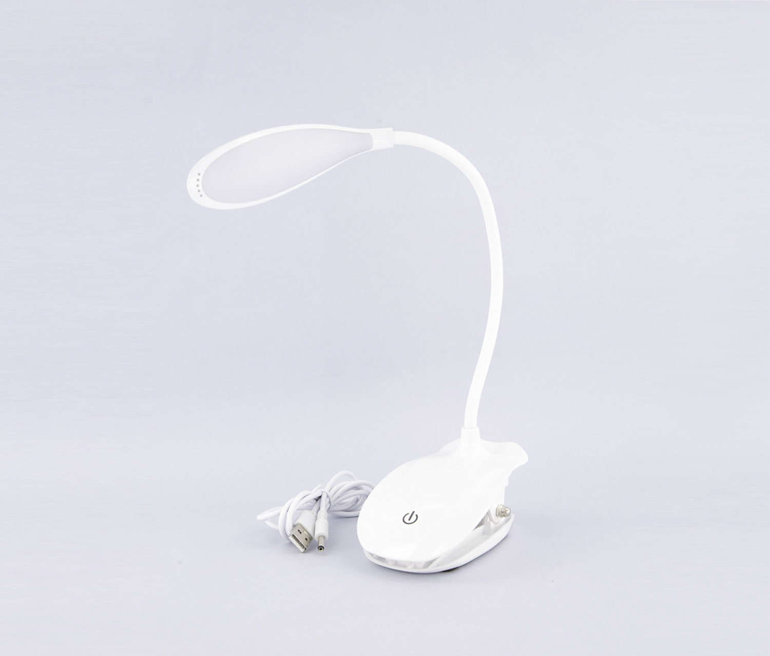 Rechargeable Clip-on Table Lamp, White
