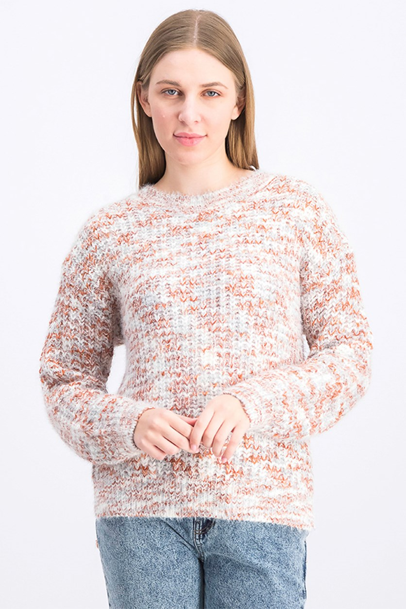 Women's Fur Knitted Sweater, Brown