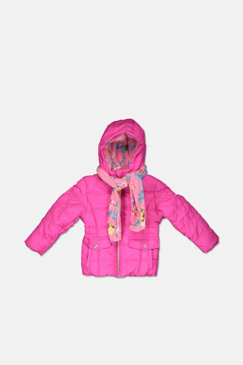 Baby Girls Puffer Jacket, Pink