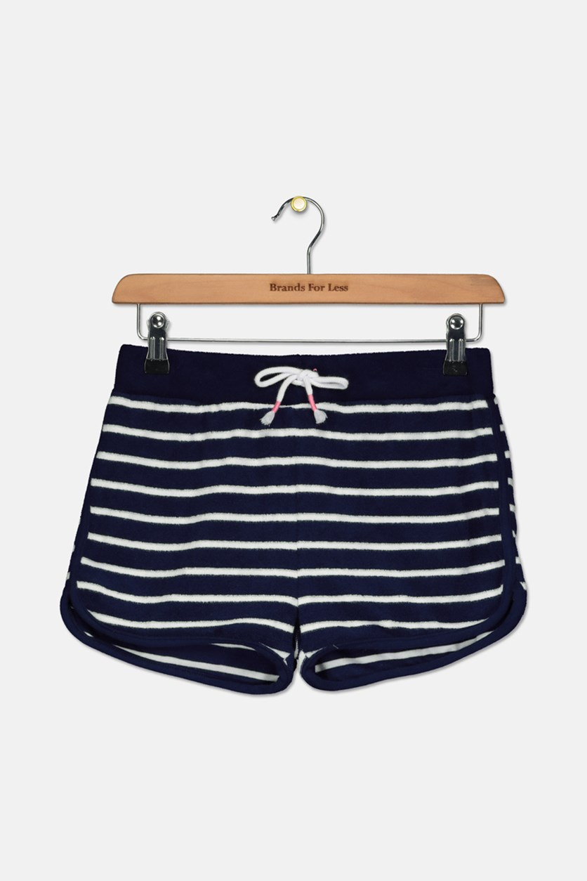 French Terry Shorts, Navy Peony