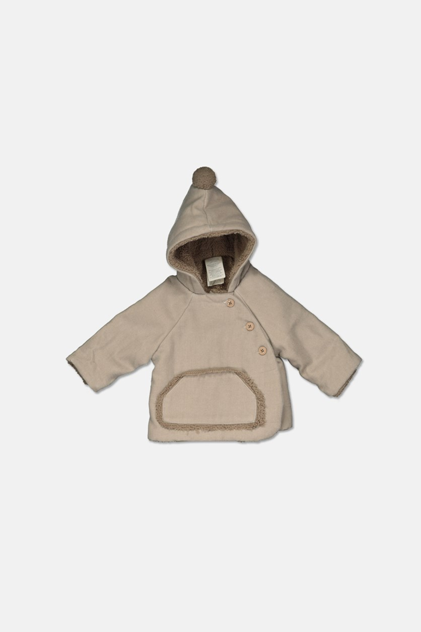 Baby Boys & Girls Hooded Kimono Jacket, Natural