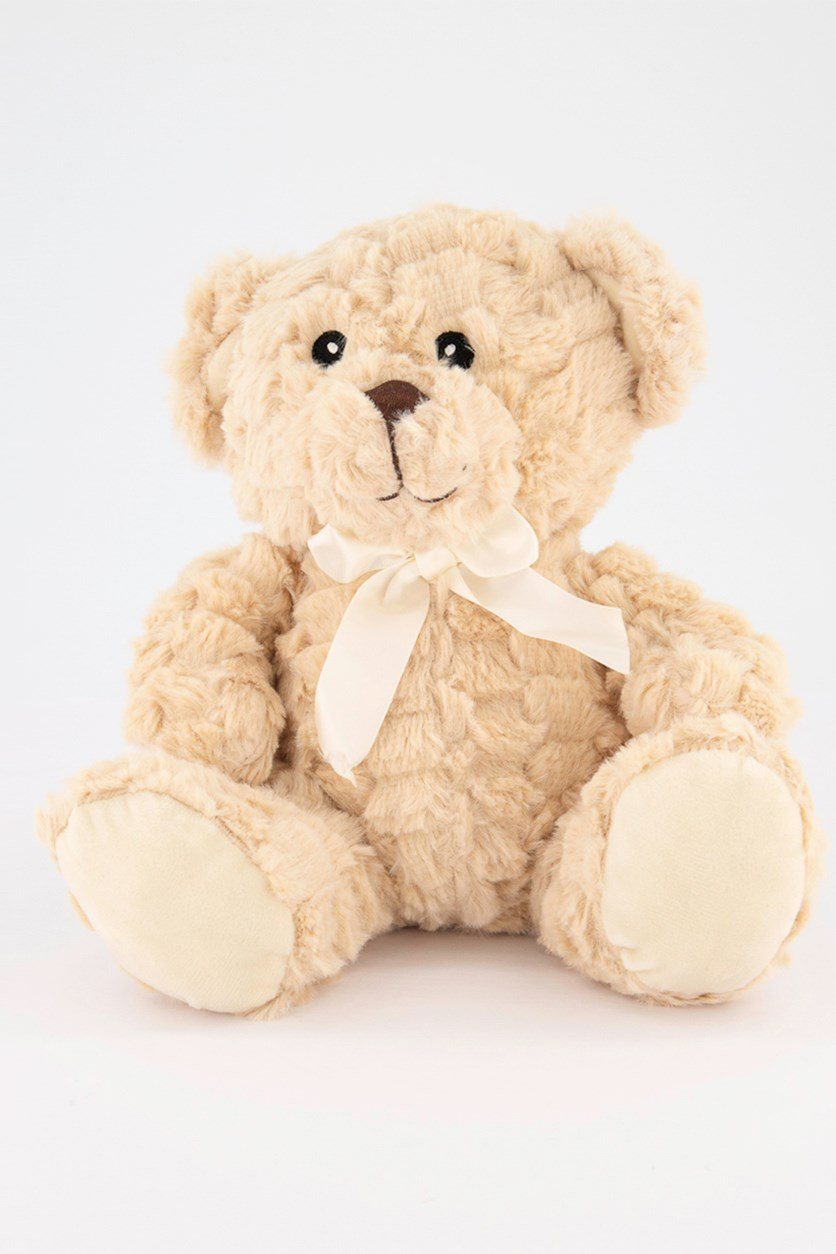 Bear Plush With Rattle, Tan