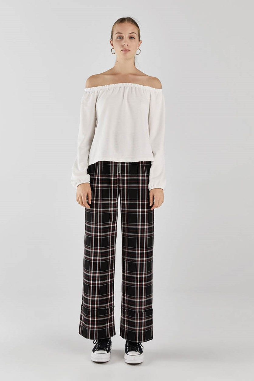 Women's Off-The-Shoulder Top, Off White