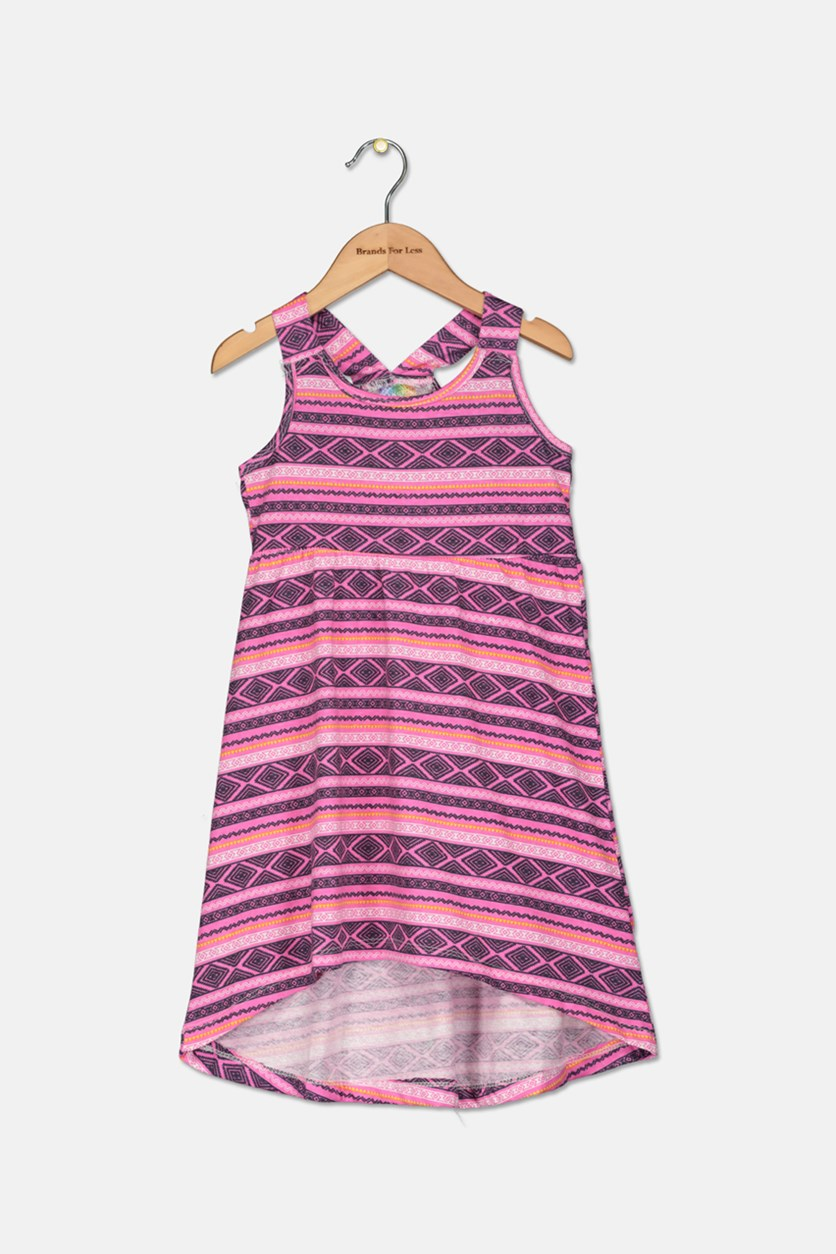 Kids Girls Raceback Dress, Pink