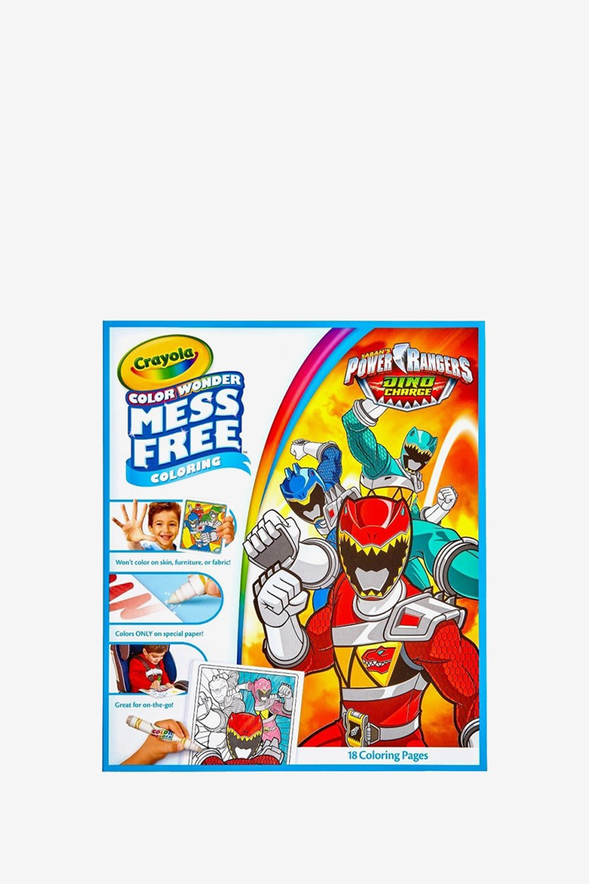 Power Rangers Crayola Color Wonder Mess Free Coloring Book, White Combo