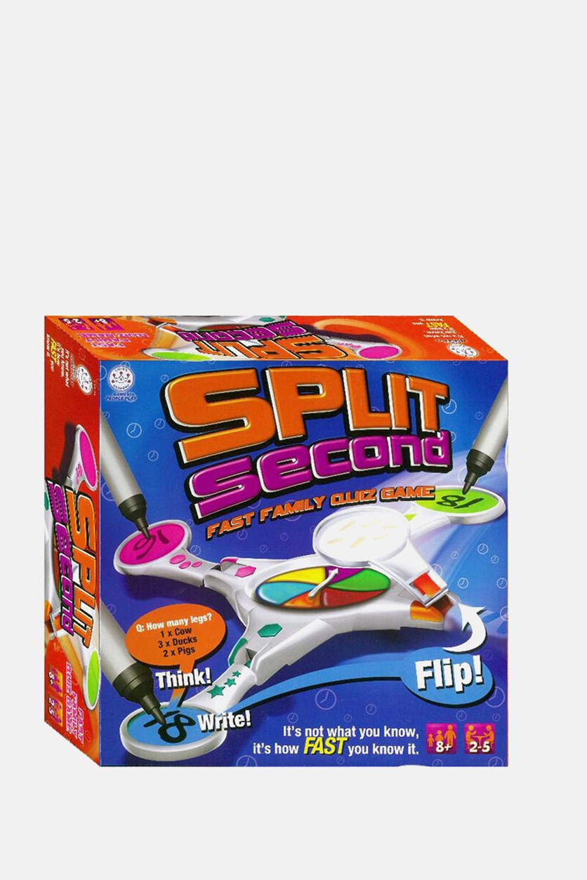 Split Seconds Fast Family Quiz Game, Blue Combo
