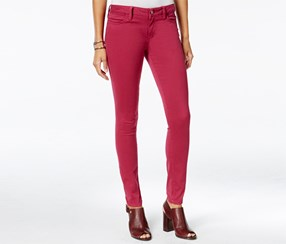 Tommy Hilfiger Women's Sateen Colored Wash Jeggings, Maroon