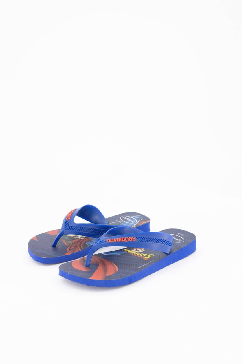 Kids Boy's Max Heroes Superman Slipper, Blue