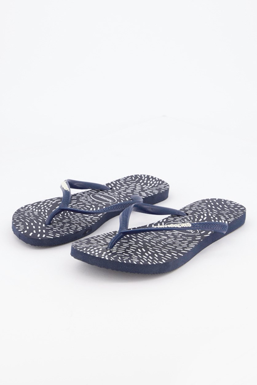 Kids Girl's Slim Slipper, Navy Blue
