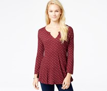 Lucky Brand Women's Ditsy Daisy Top, Red/Multi