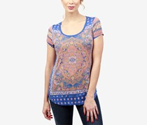 Lucky Brand Women's Printed T-Shirt, Brown