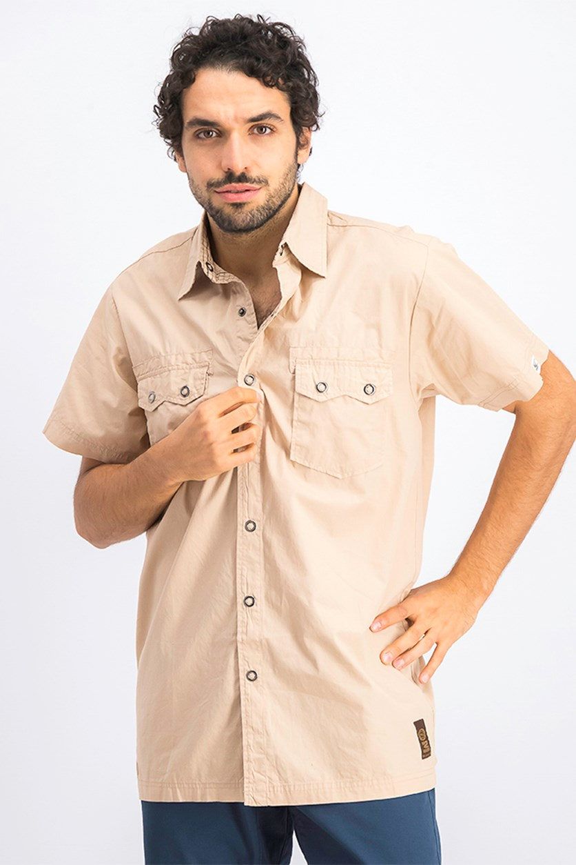 Men's Casual Shirt, Cuban Sand