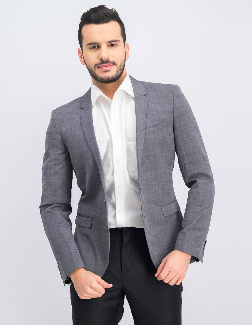 Men's Two Button Blazer, Grey