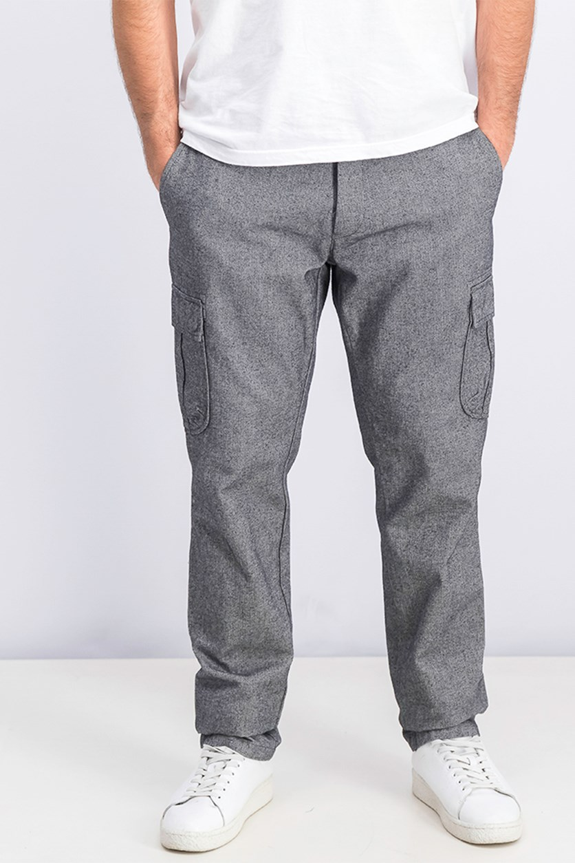 Men's Regular Fit Stretch Pants, Grey Heather