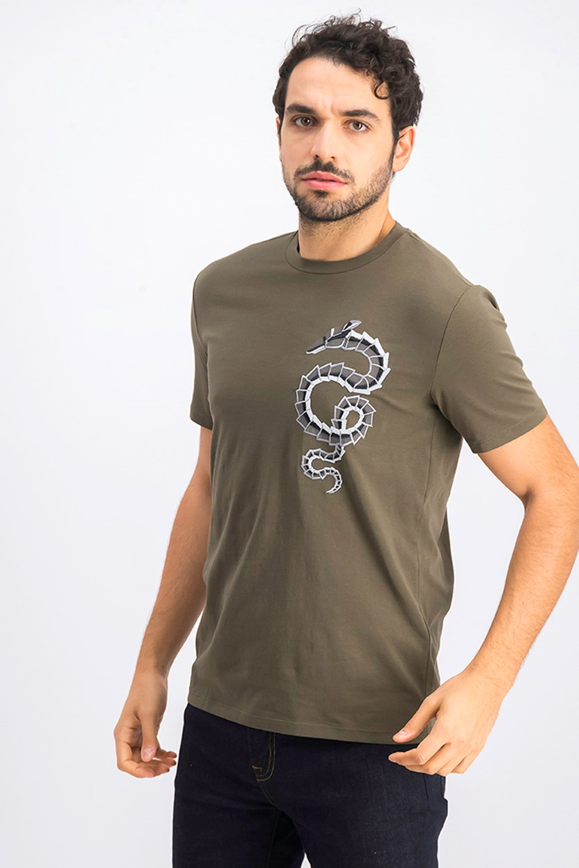 Men's Crew Neck T-Shirt, Olive
