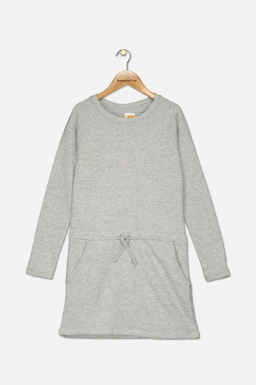 Kid's Girl's Dress, Pearl Heather Grey