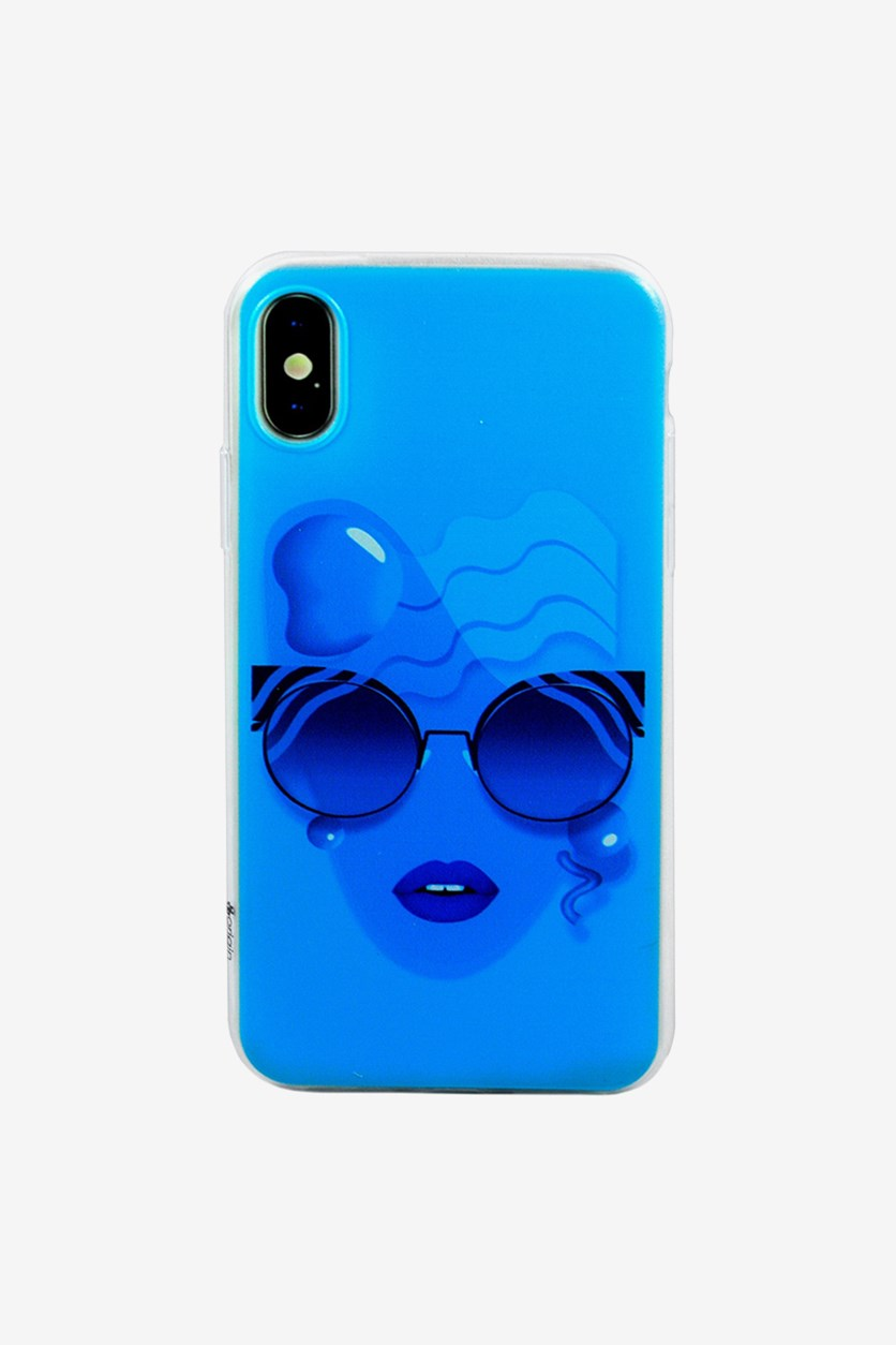 Cyanopsia Soft and Flexible iPhone X Case, Blue