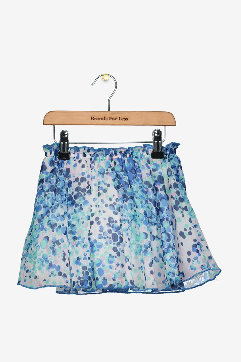 Kids Girls Sheer Flared Skirt, Blue Combo
