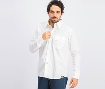 Men's Cotton Casual Shirts, White