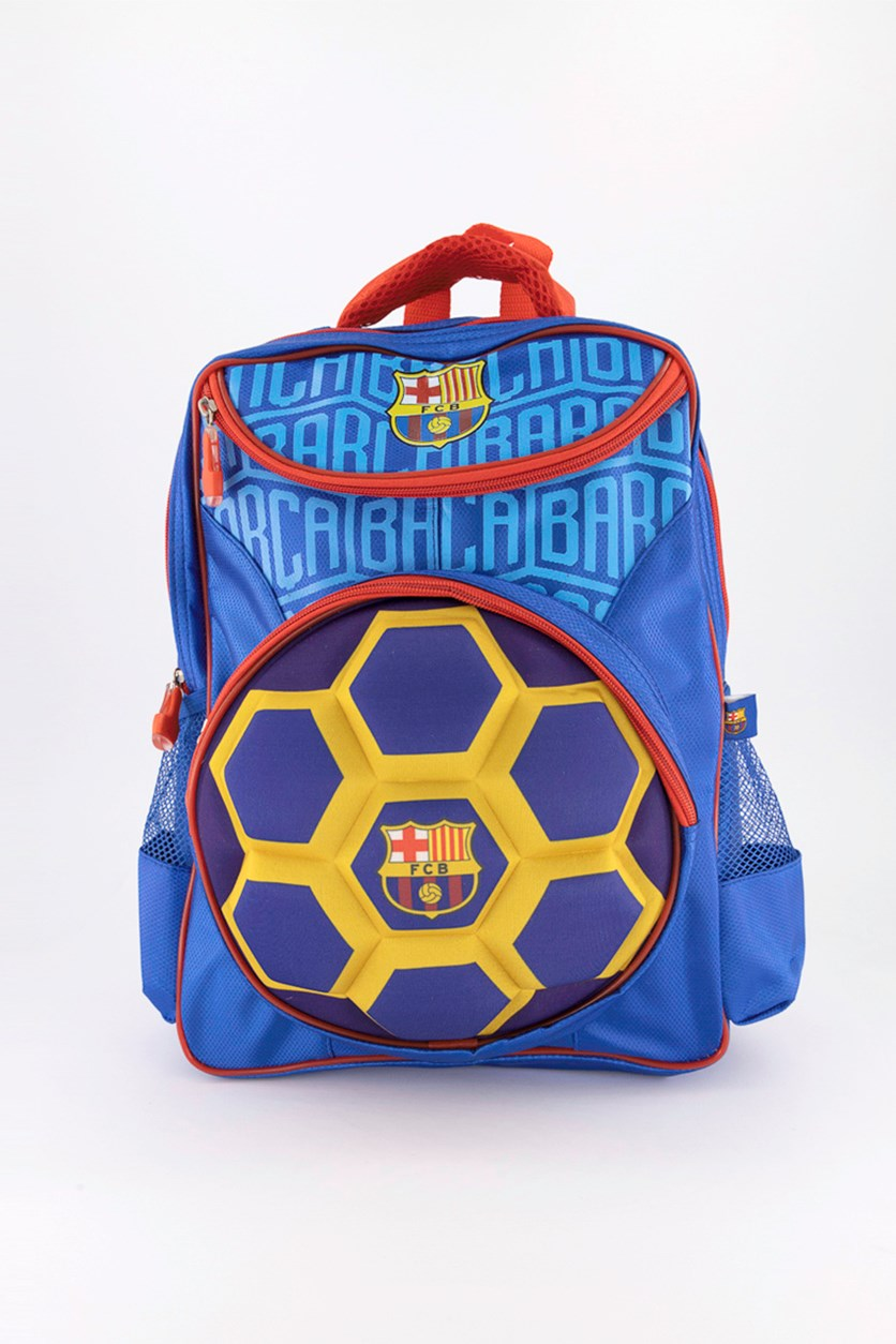 Youth Raised Ball Backpack, Blue/Violet