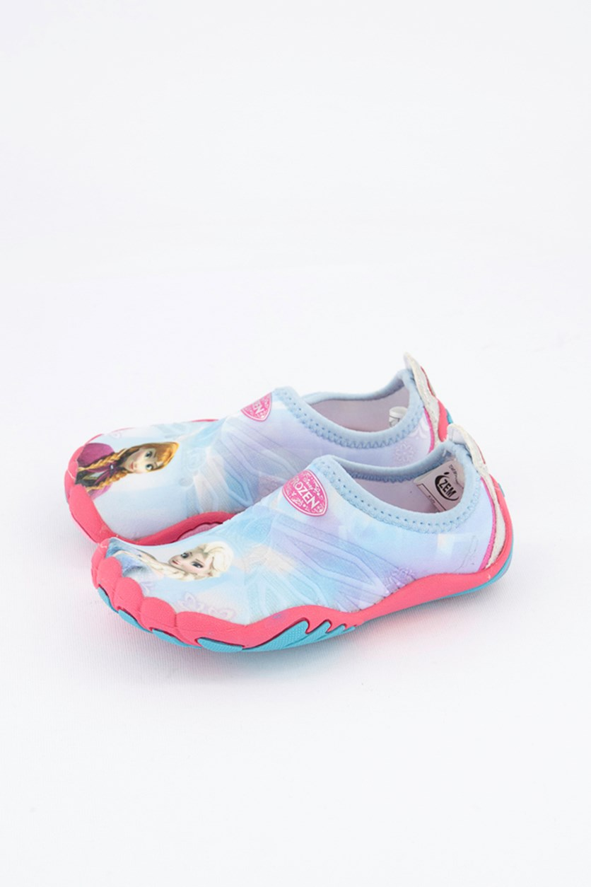 Toddler Girls Frozen Pull On Shoes, Light Blue/Pink
