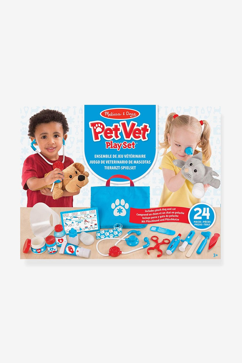 Examine & Treat Pet Vet Playset, Blue Combo