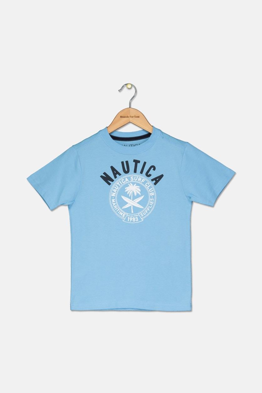 Kid's Boys Graphic Tee, Sky Blue