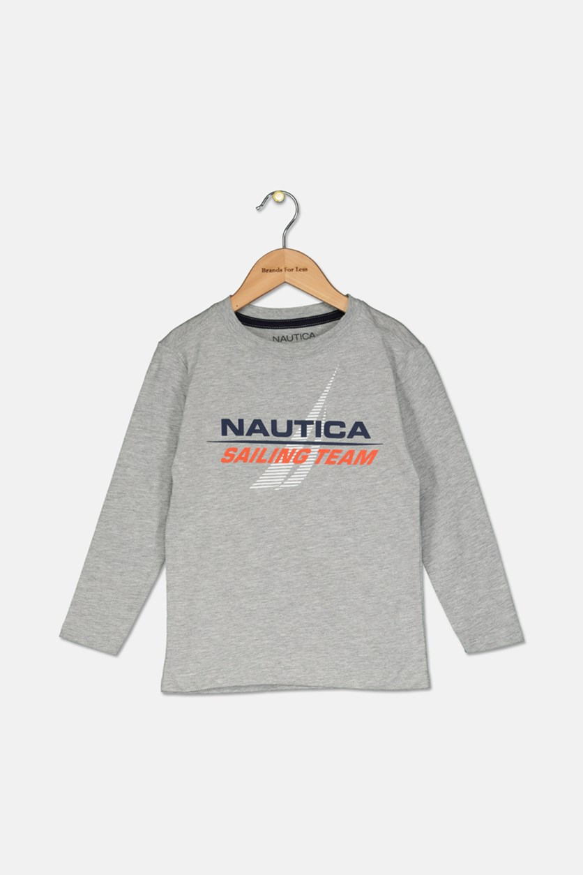 Toddler's Boy's Sailing Team Cristiano Long-Sleeve Tee, Grey Heather